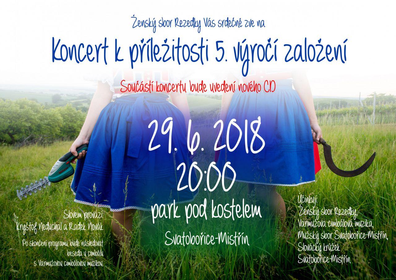 Koncert k příležitosti 5. výročí založení Ženského sboru Rezedky 1